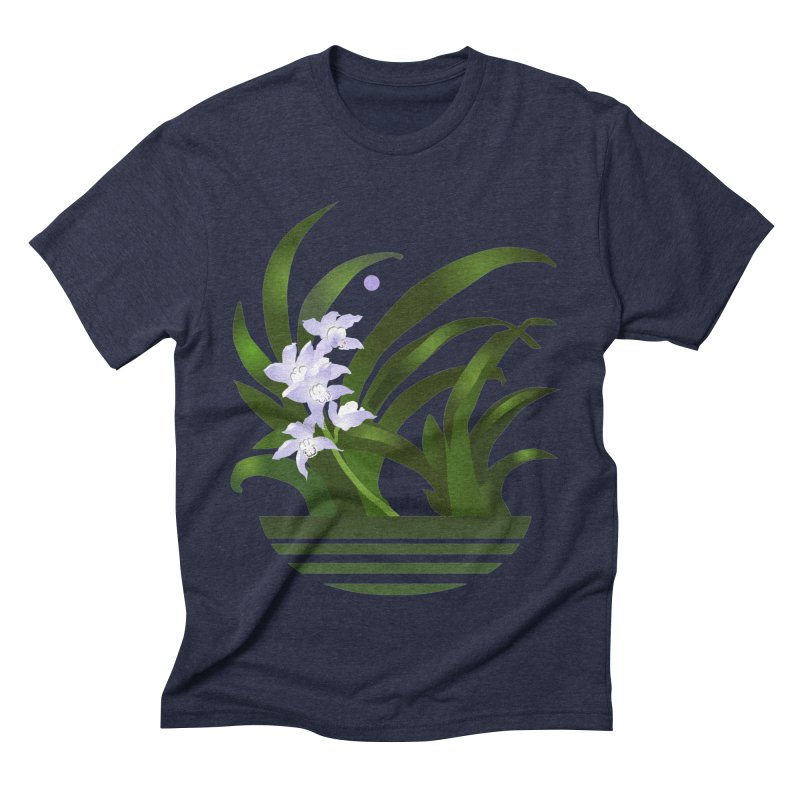 Orchid Moon Men's Triblend T-Shirt by Patricia Howitt's Artist Shop