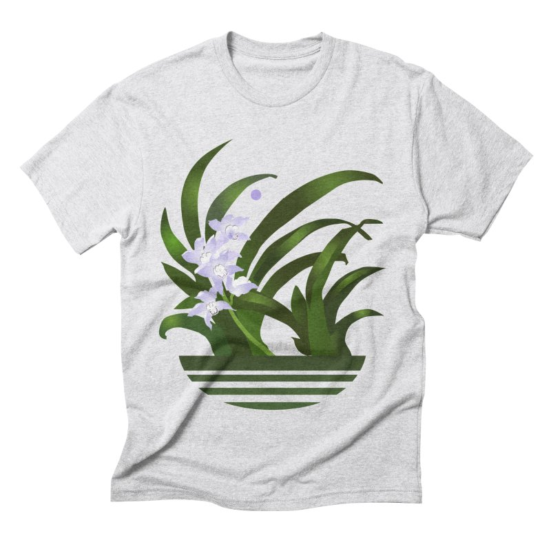 Orchid Moon Men's Triblend T-Shirt by Patricia Howitt's Artist Shop