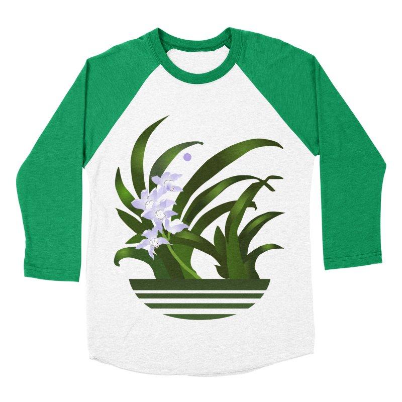 Orchid Moon Women's Baseball Triblend T-Shirt by Patricia Howitt's Artist Shop