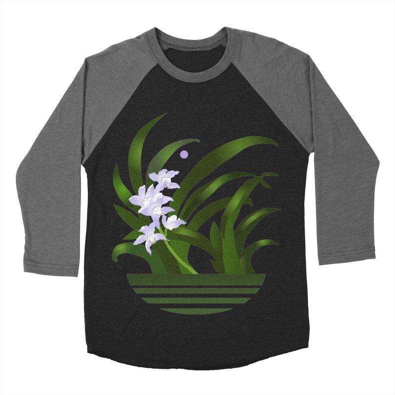 Orchid Moon Women's Baseball Triblend Longsleeve T-Shirt by Patricia Howitt's Artist Shop