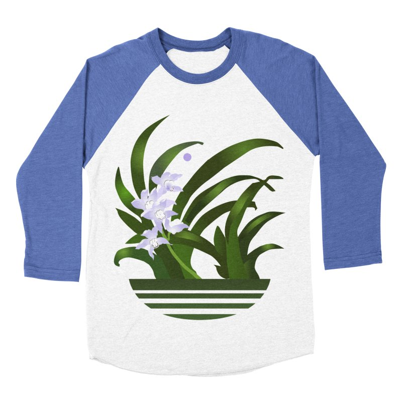 Orchid Moon Men's Baseball Triblend Longsleeve T-Shirt by Patricia Howitt's Artist Shop