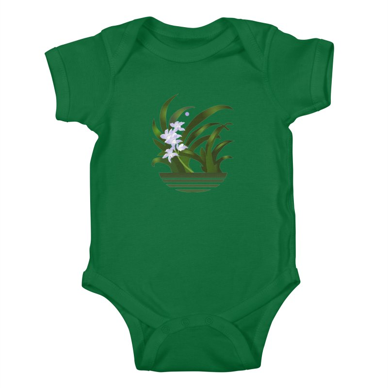 Orchid Moon Kids Baby Bodysuit by Patricia Howitt's Artist Shop