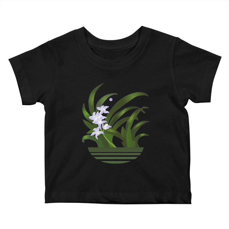 Orchid Moon Kids Baby T-Shirt by Patricia Howitt's Artist Shop