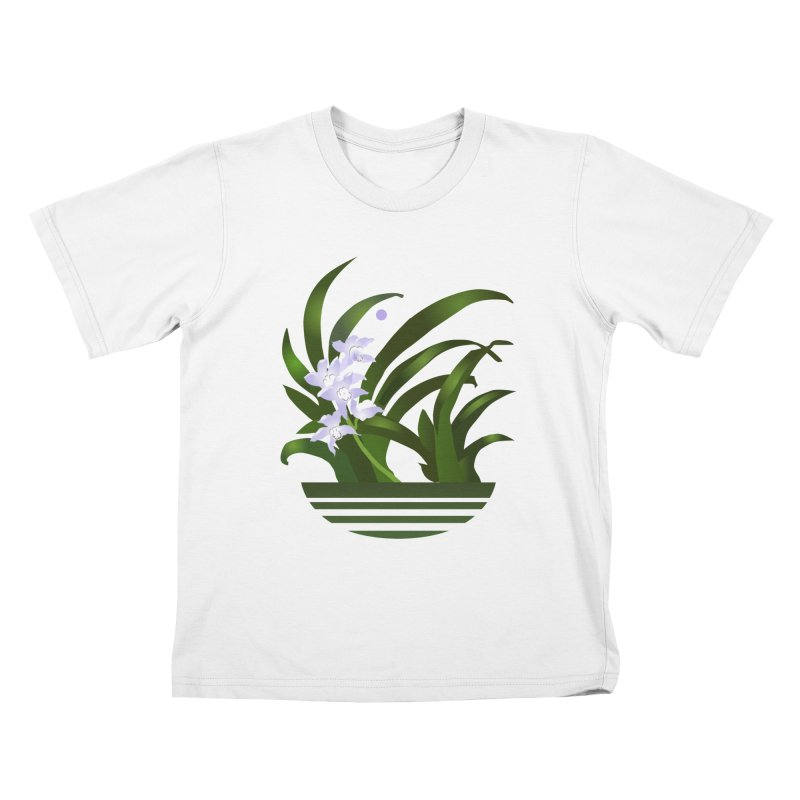 Orchid Moon Kids T-Shirt by Patricia Howitt's Artist Shop
