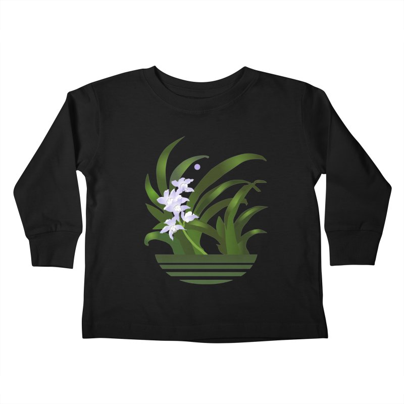 Orchid Moon Kids Toddler Longsleeve T-Shirt by Patricia Howitt's Artist Shop