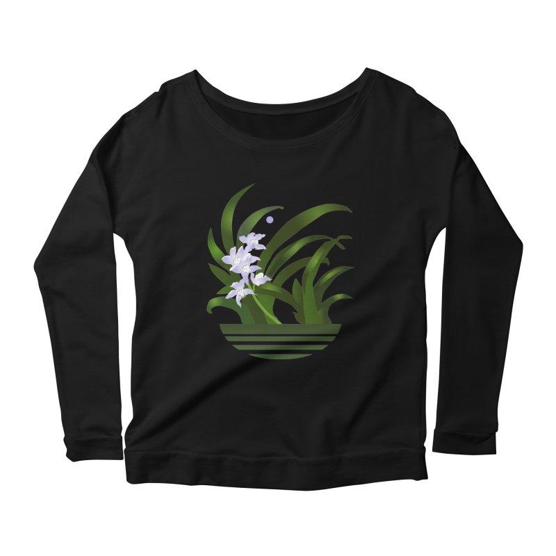Orchid Moon Women's Scoop Neck Longsleeve T-Shirt by Patricia Howitt's Artist Shop