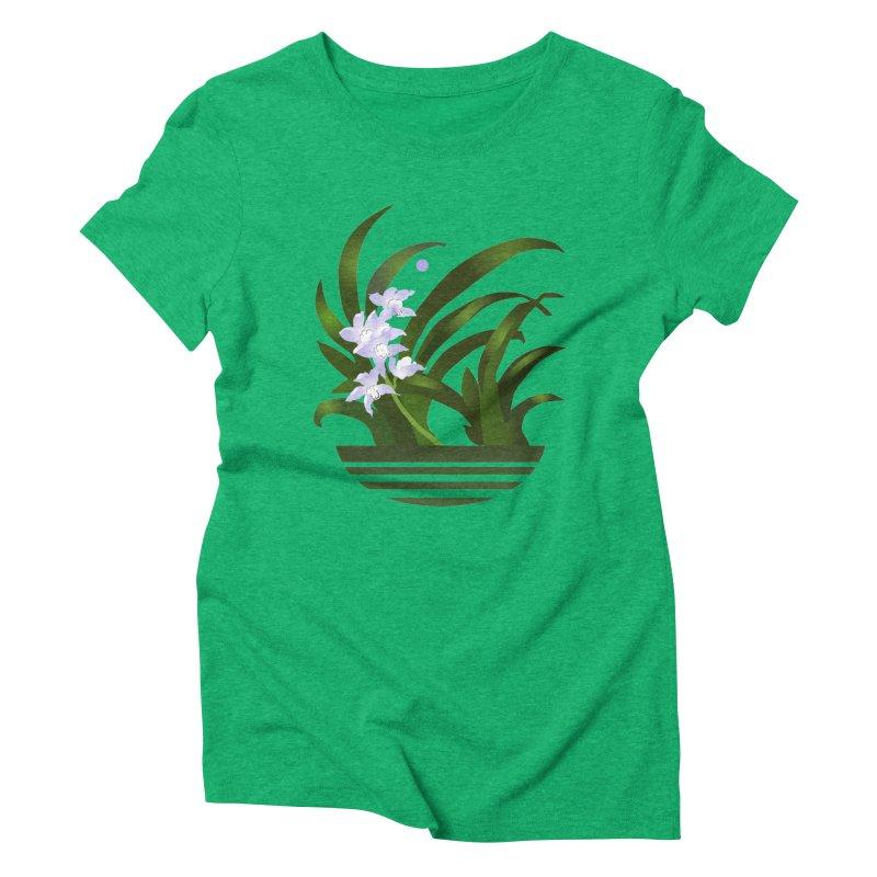 Orchid Moon Women's Triblend T-Shirt by Patricia Howitt's Artist Shop