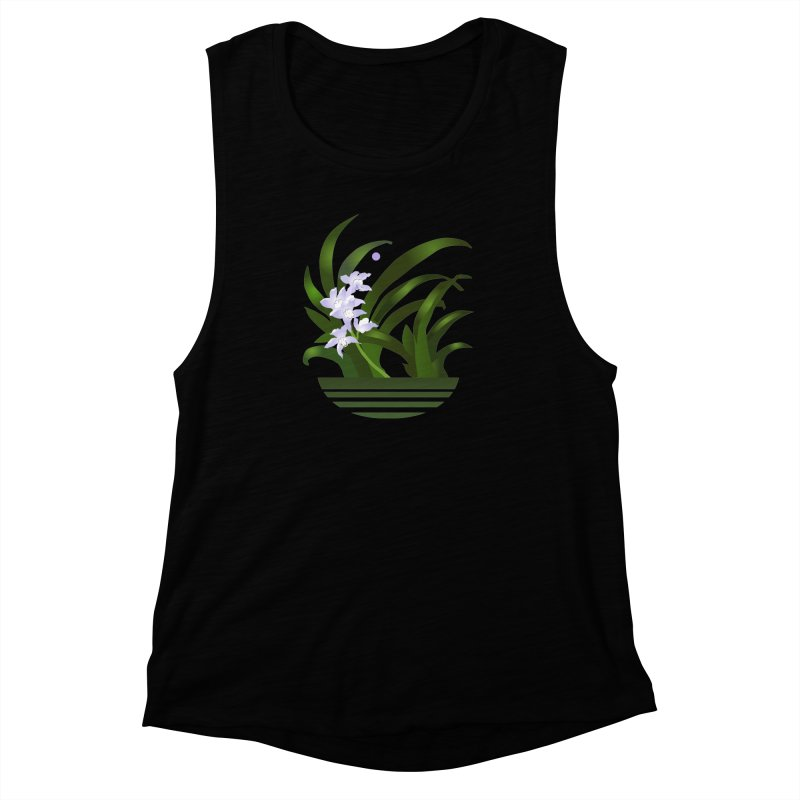 Orchid Moon Women's Muscle Tank by Patricia Howitt's Artist Shop