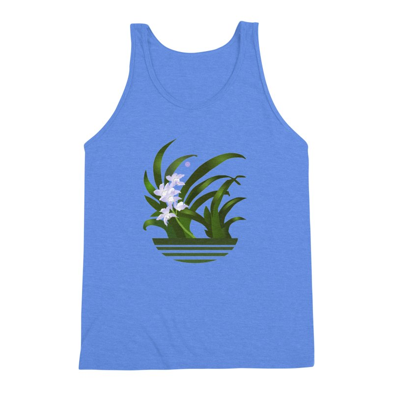 Orchid Moon Men's Triblend Tank by Patricia Howitt's Artist Shop