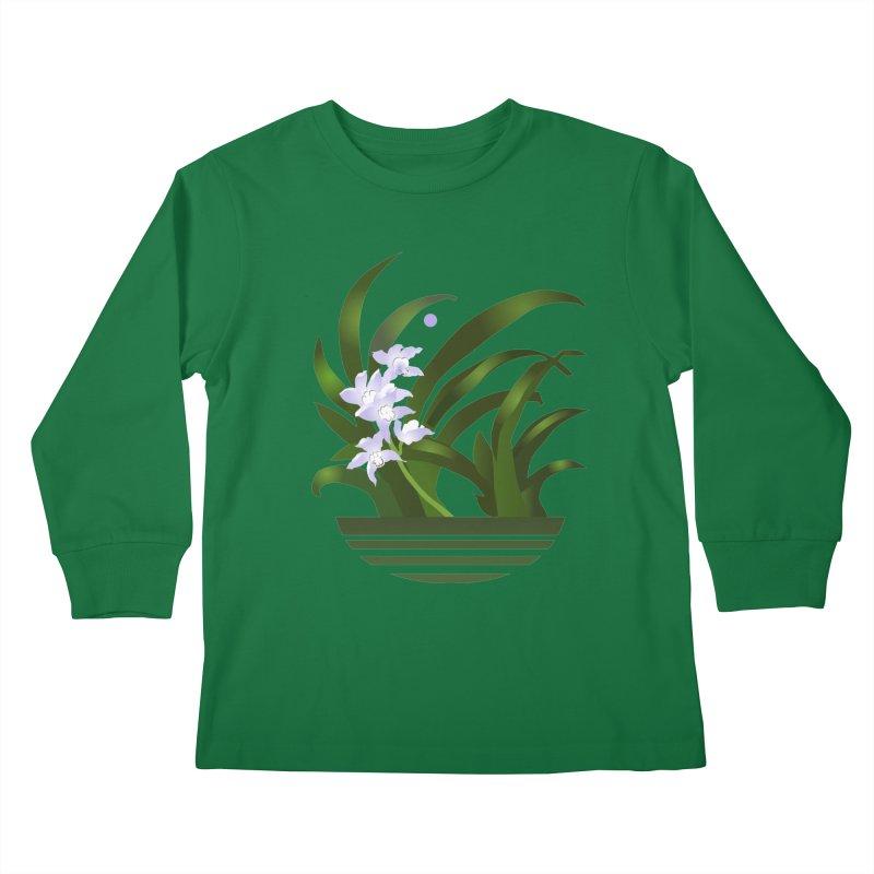 Orchid Moon Kids Longsleeve T-Shirt by Patricia Howitt's Artist Shop