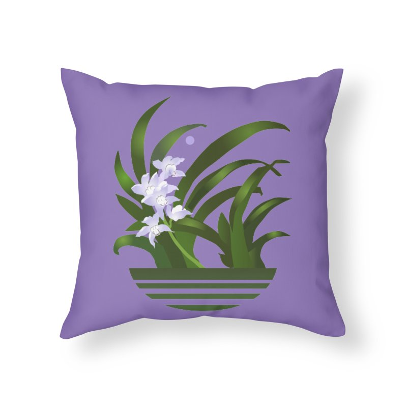 Orchid Moon Home Throw Pillow by Patricia Howitt's Artist Shop