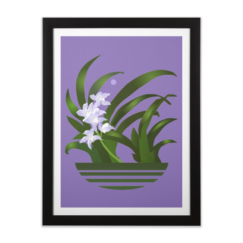 Orchid Moon Home Framed Fine Art Print by Patricia Howitt's Artist Shop