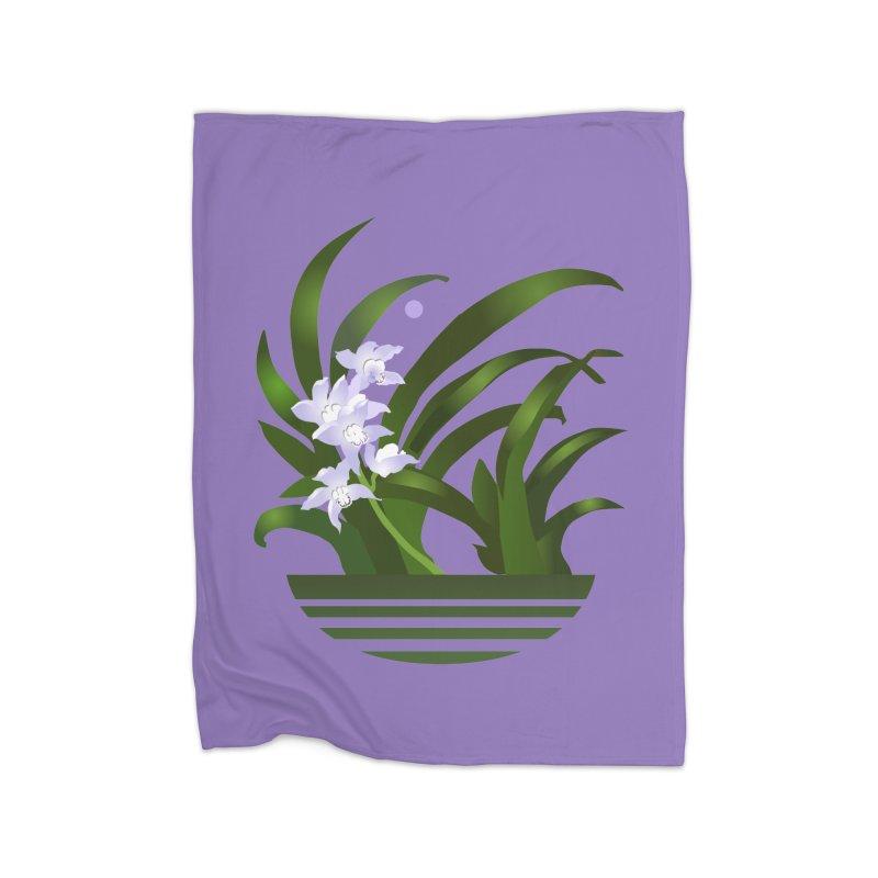 Orchid Moon Home Fleece Blanket Blanket by Patricia Howitt's Artist Shop