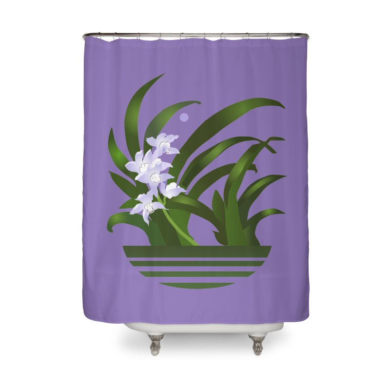 Orchid Moon Home Shower Curtain by Patricia Howitt's Artist Shop