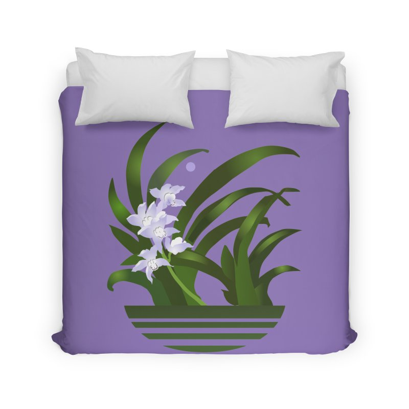 Orchid Moon Home Duvet by Patricia Howitt's Artist Shop