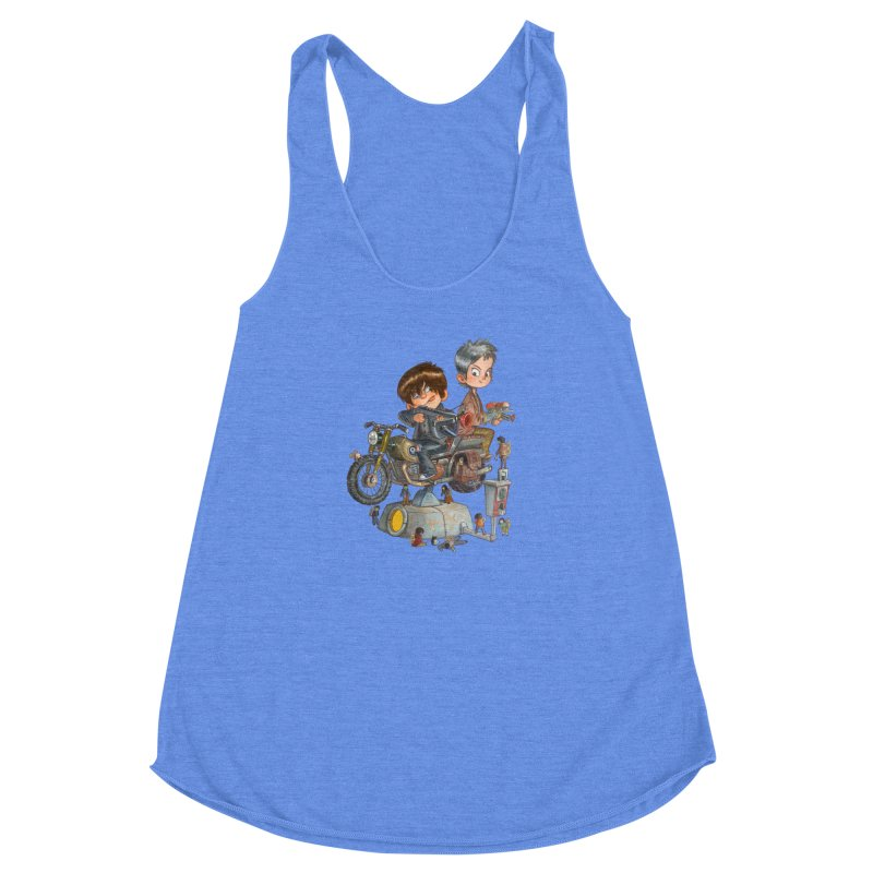 Is it Darol or Caryl Women's Racerback Triblend Tank by Patrick Ballesteros Art Shop
