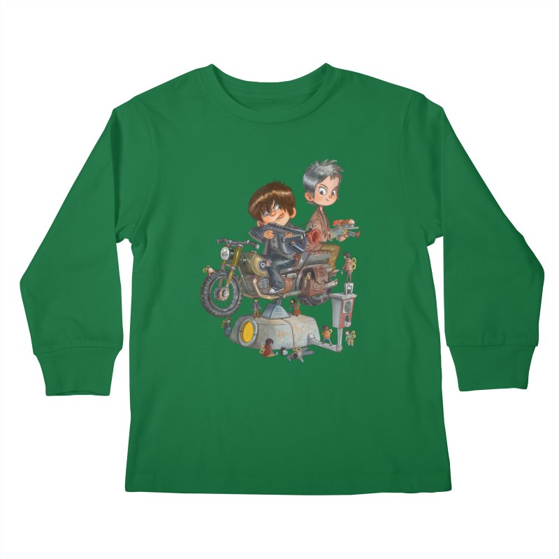 Is it Darol or Caryl Kids Longsleeve T-Shirt by Patrick Ballesteros
