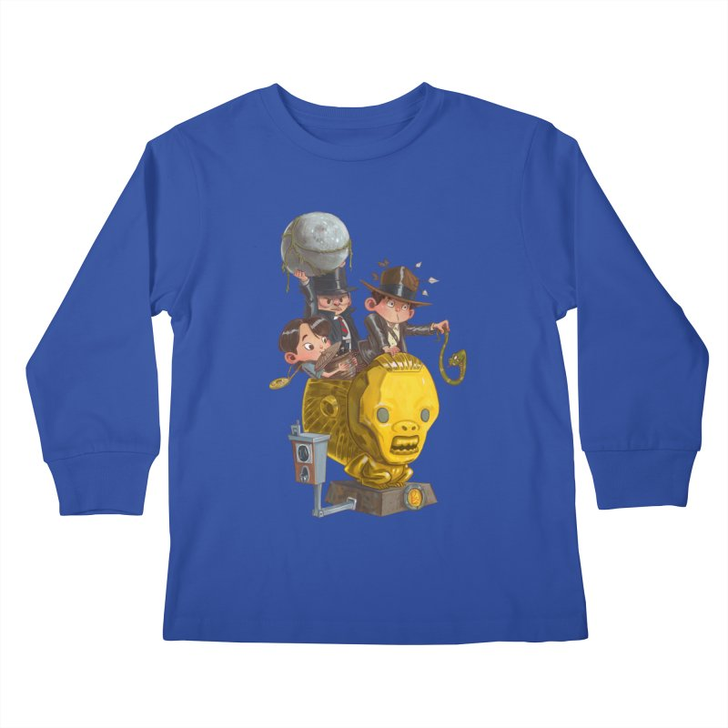 Raiding Party Kids Longsleeve T-Shirt by Patrick Ballesteros