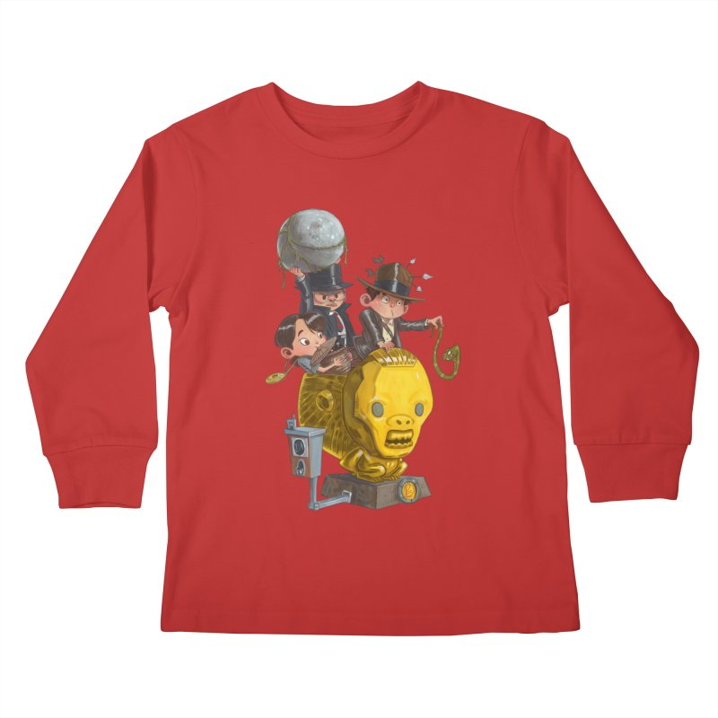 Raiding Party Kids Longsleeve T-Shirt by Patrick Ballesteros