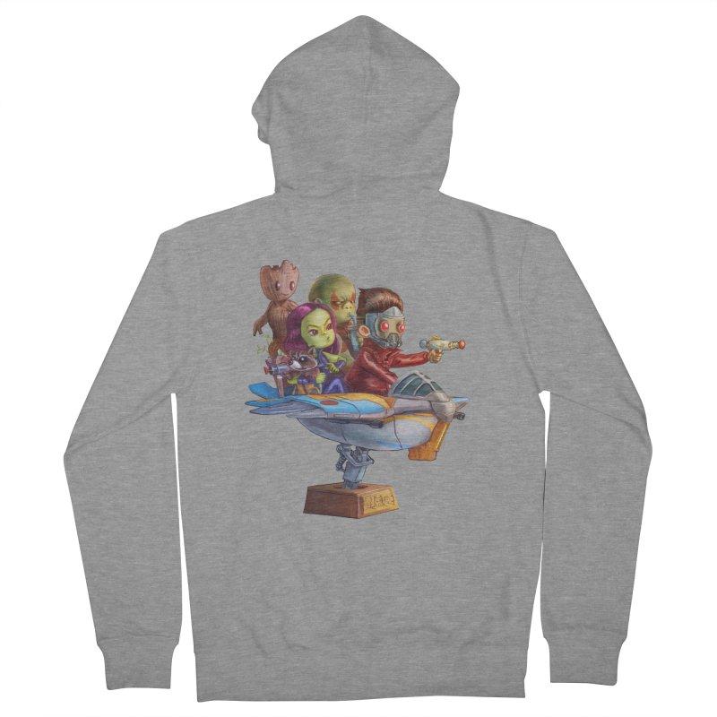Galactic Kids Men's Zip-Up Hoody by Patrick Ballesteros Art Shop