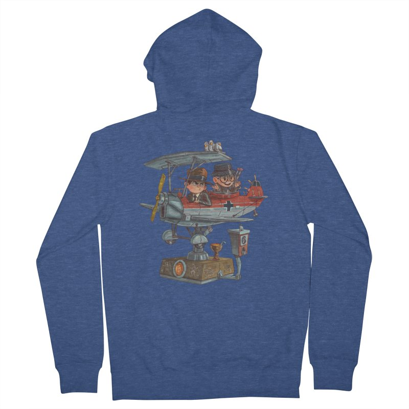 Last Flight Out Men's French Terry Zip-Up Hoody by Patrick Ballesteros Art Shop