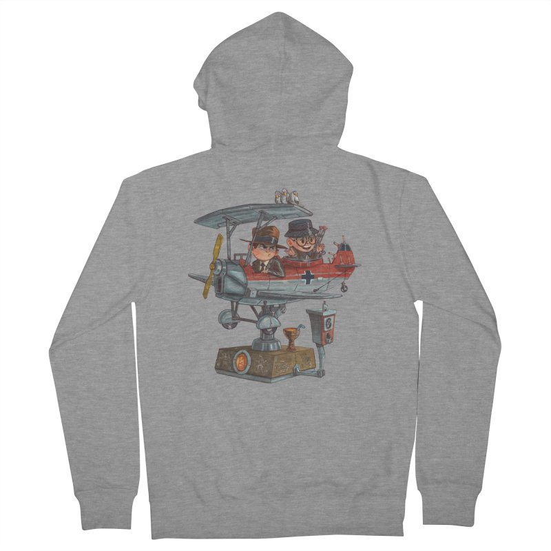 Last Flight Out Men's French Terry Zip-Up Hoody by Patrick Ballesteros