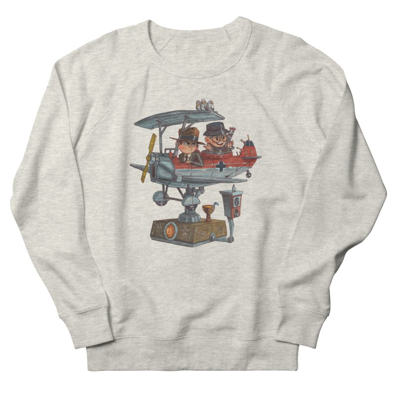 Last Flight Out Men's French Terry Sweatshirt by Patrick Ballesteros