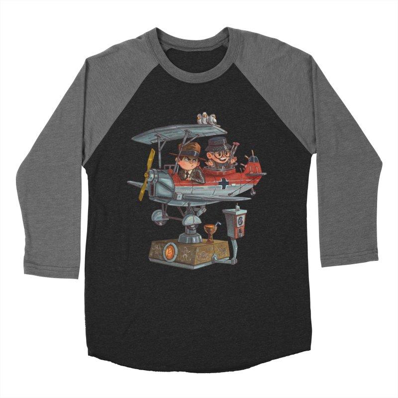 Last Flight Out Men's Baseball Triblend T-Shirt by Patrick Ballesteros Art Shop