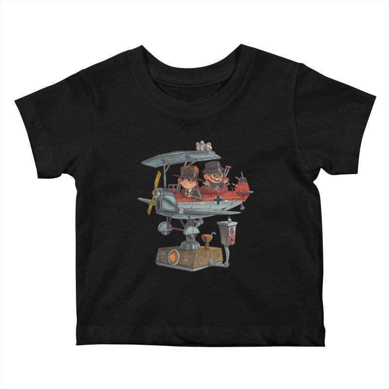 Last Flight Out Kids Baby T-Shirt by Patrick Ballesteros Art Shop