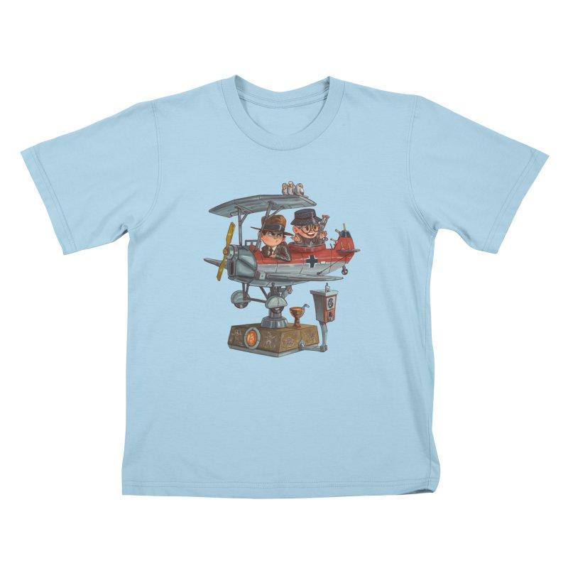 Last Flight Out Kids T-shirt by Patrick Ballesteros Art Shop