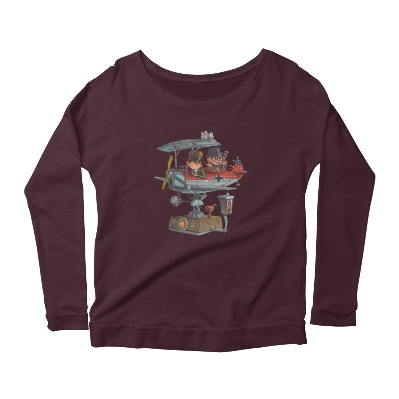 Last Flight Out Women's Scoop Neck Longsleeve T-Shirt by Patrick Ballesteros