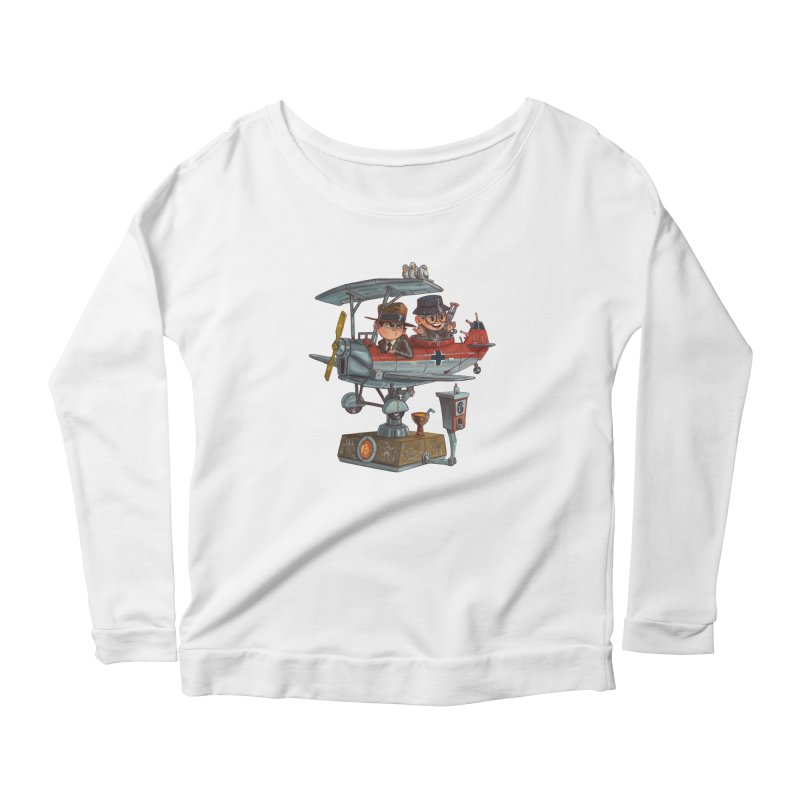 Last Flight Out Women's Scoop Neck Longsleeve T-Shirt by Patrick Ballesteros Art Shop