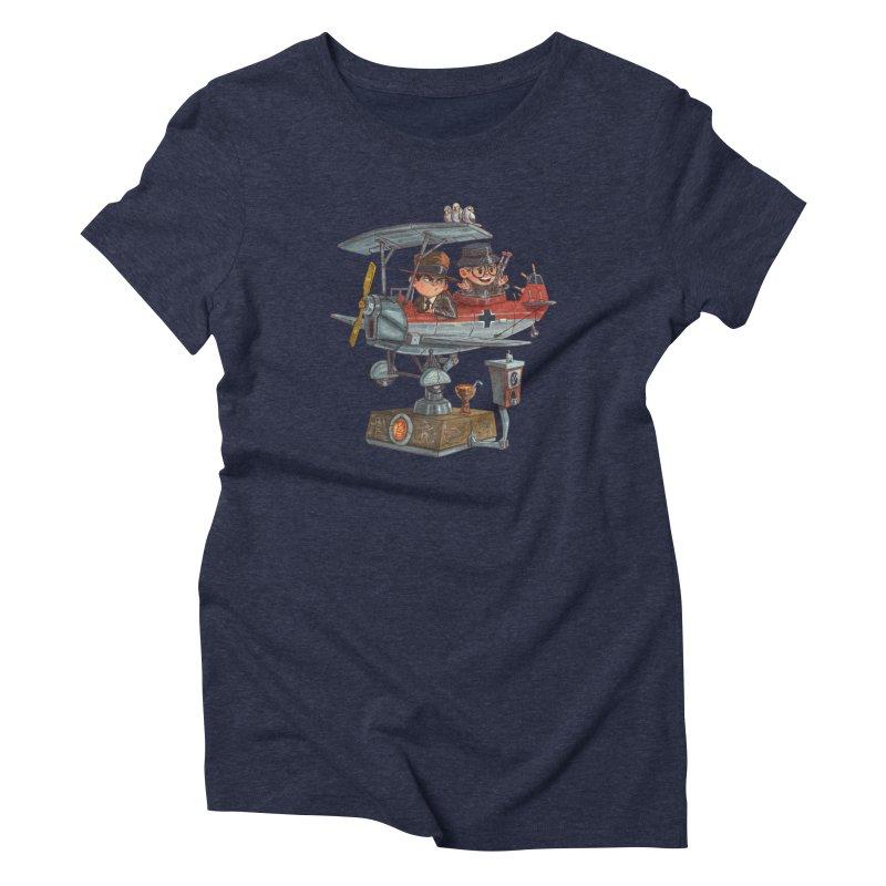 Last Flight Out Women's Triblend T-shirt by Patrick Ballesteros Art Shop