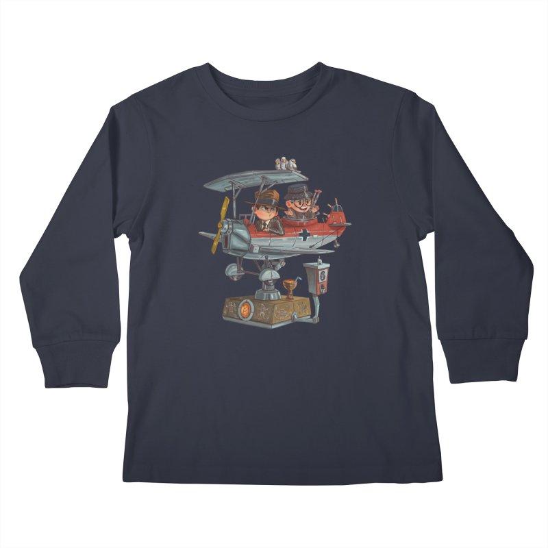 Last Flight Out Kids Longsleeve T-Shirt by Patrick Ballesteros