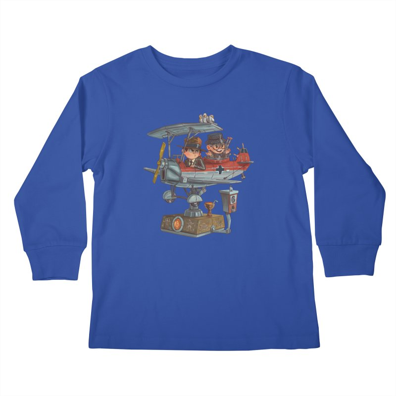 Last Flight Out Kids Longsleeve T-Shirt by Patrick Ballesteros