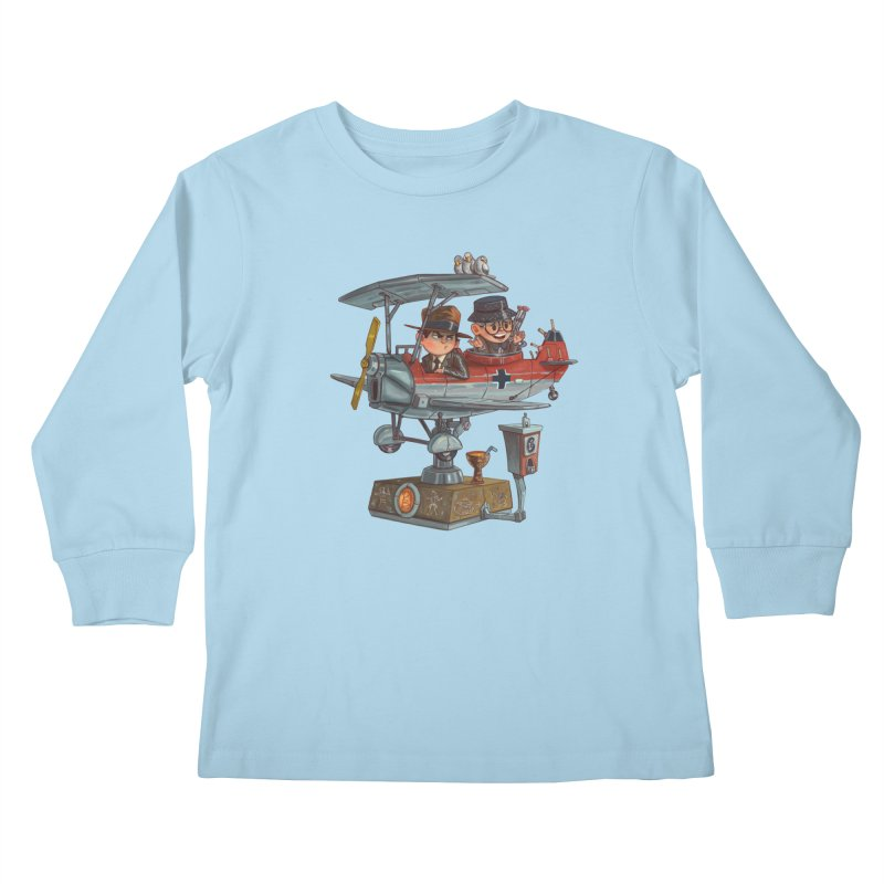 Last Flight Out Kids Longsleeve T-Shirt by Patrick Ballesteros Art Shop