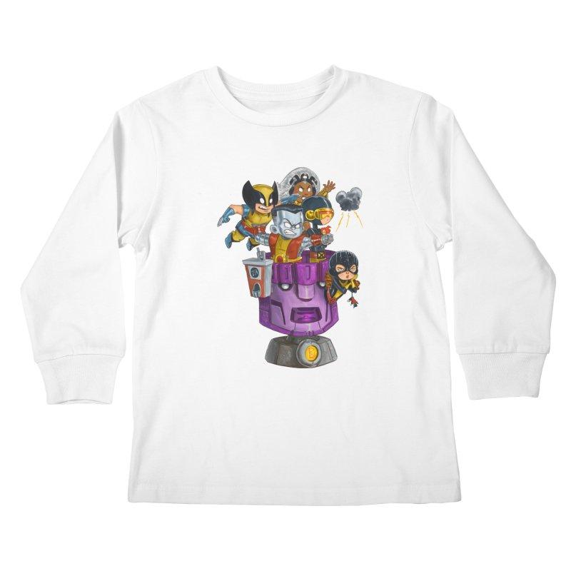 X Marks The Spot Kids Longsleeve T-Shirt by Patrick Ballesteros