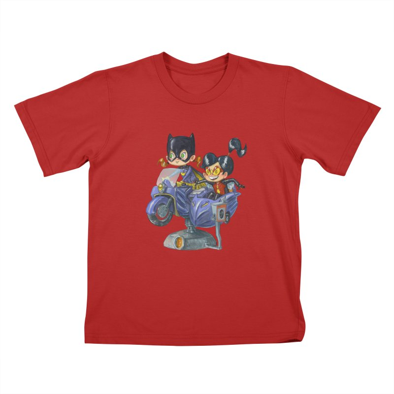 Girl Powered Kids T-shirt by Patrick Ballesteros Art Shop