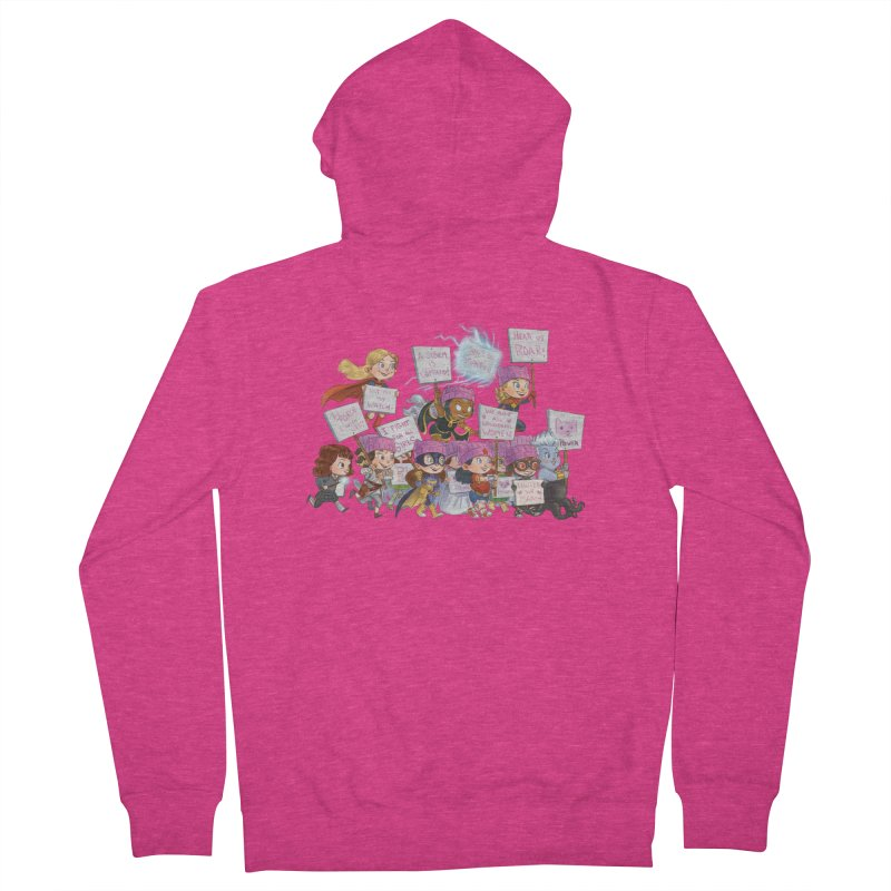 EM-POWERED Women's French Terry Zip-Up Hoody by Patrick Ballesteros Art Shop