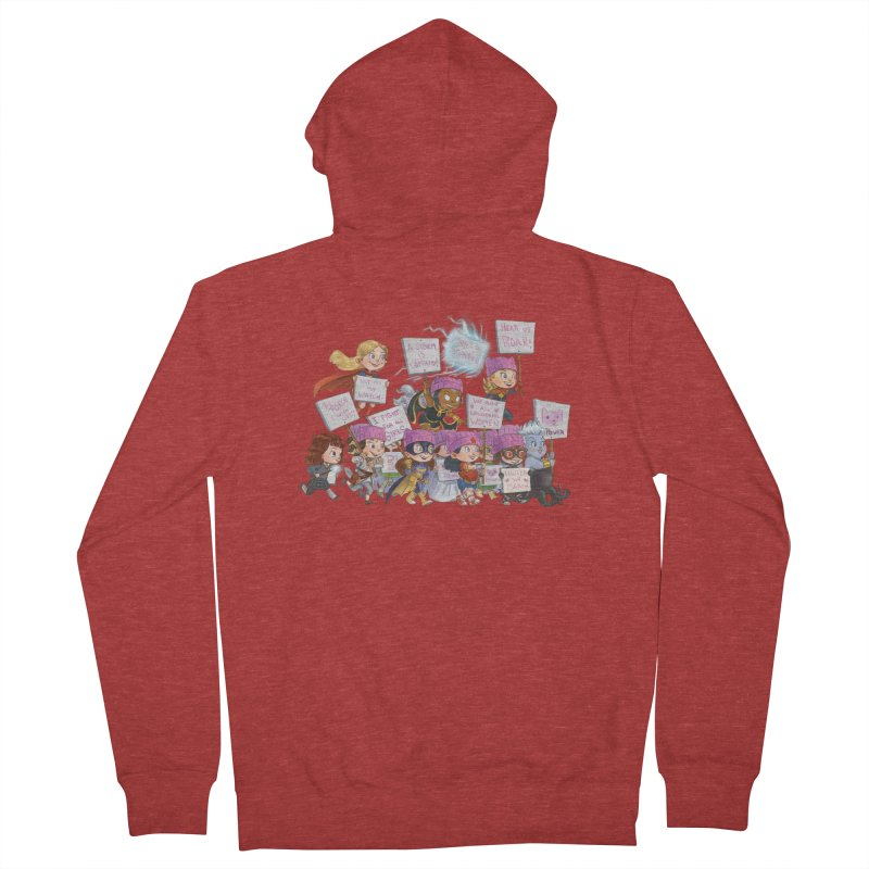 EM-POWERED Men's French Terry Zip-Up Hoody by Patrick Ballesteros Art Shop