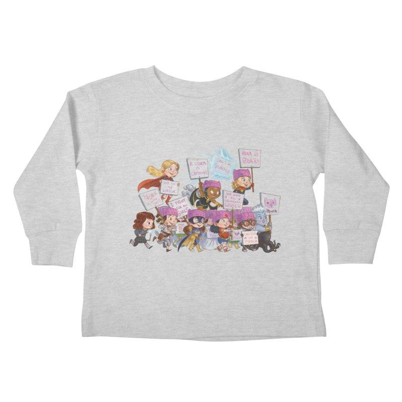 EM-POWERED Kids Toddler Longsleeve T-Shirt by Patrick Ballesteros Art Shop