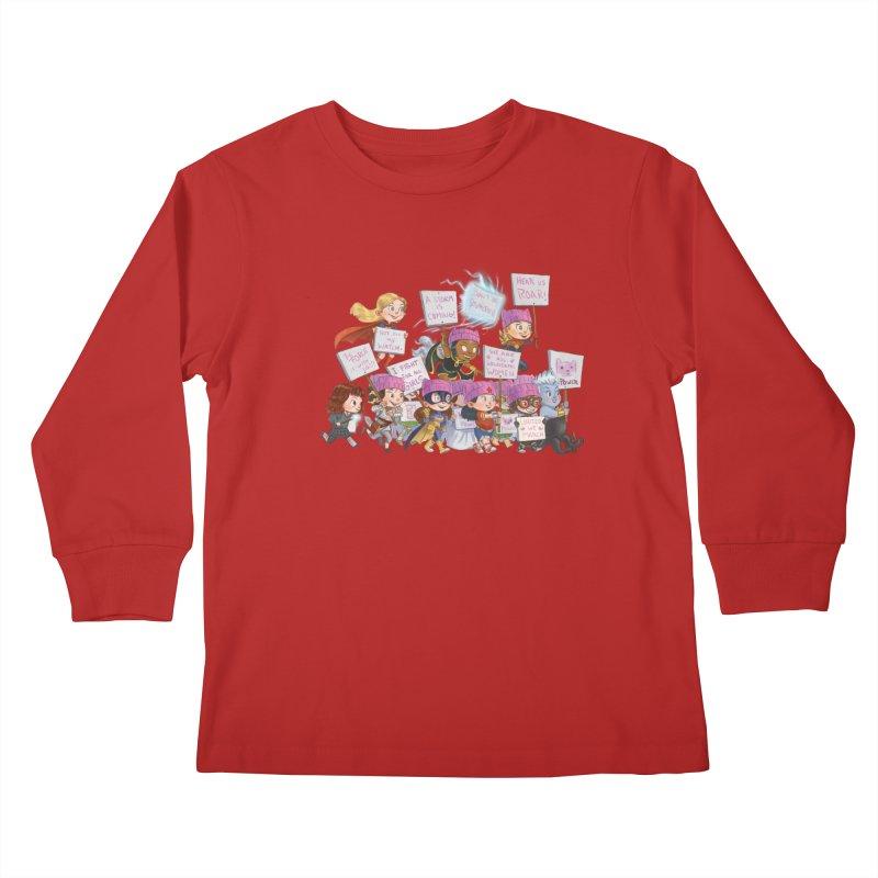 EM-POWERED Kids Longsleeve T-Shirt by Patrick Ballesteros Art Shop
