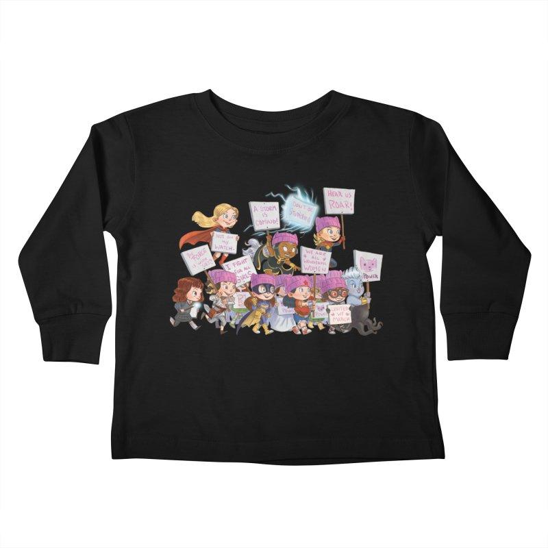 EM-POWERED Kids Toddler Longsleeve T-Shirt by Patrick Ballesteros