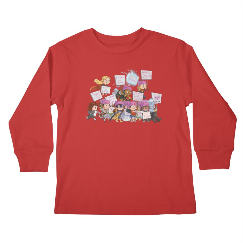 EM-POWERED Kids Longsleeve T-Shirt by Patrick Ballesteros Art Shop