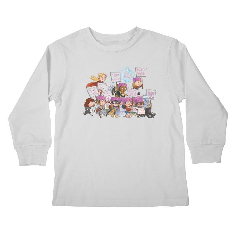 EM-POWERED Kids Longsleeve T-Shirt by Patrick Ballesteros