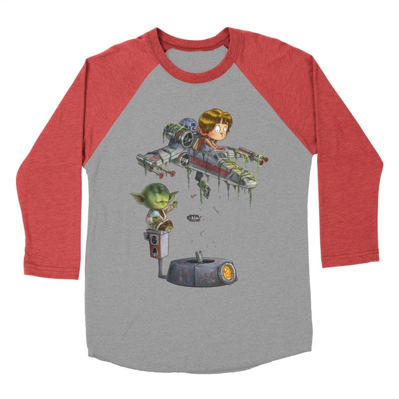YO-DA Man Men's Baseball Triblend Longsleeve T-Shirt by Patrick Ballesteros Art Shop