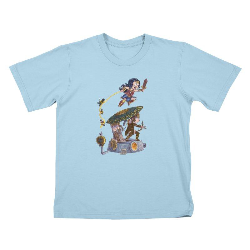 AMAZON PRIDE Kids T-Shirt by Patrick Ballesteros Art Shop
