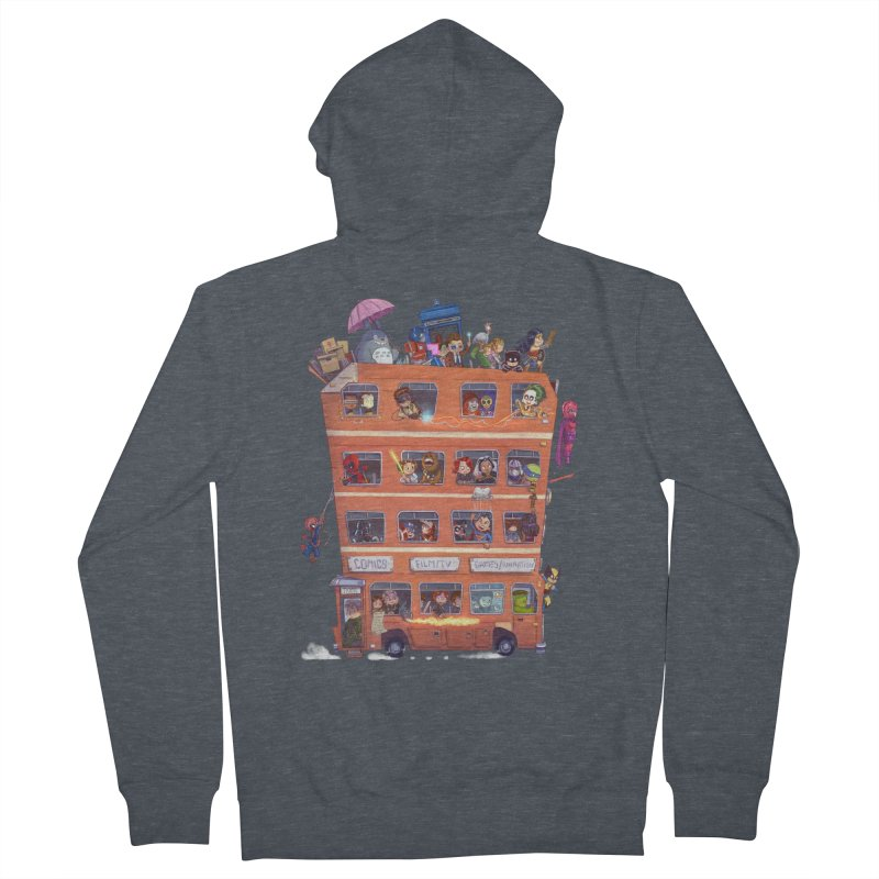 CON KIDS Men's French Terry Zip-Up Hoody by Patrick Ballesteros