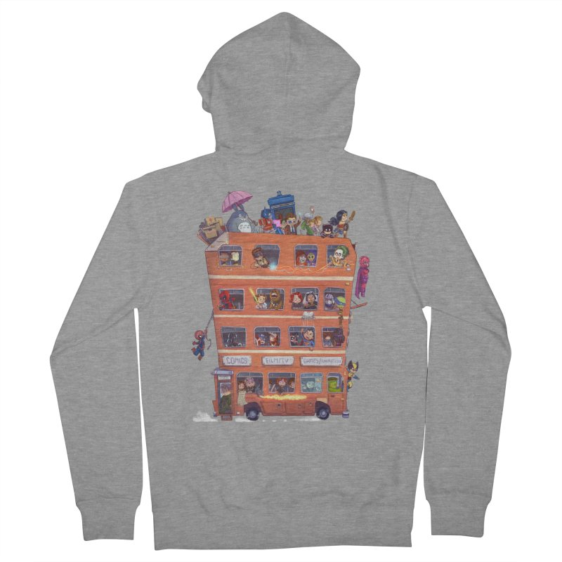 CON KIDS Men's French Terry Zip-Up Hoody by Patrick Ballesteros Art Shop
