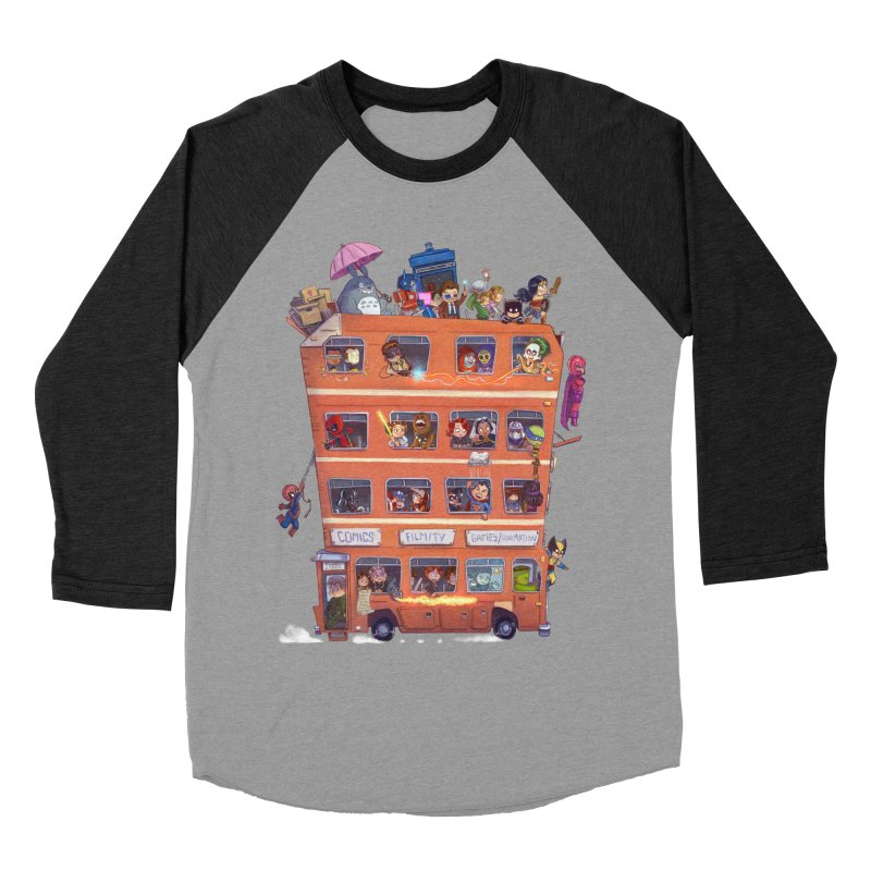 CON KIDS Women's Baseball Triblend Longsleeve T-Shirt by Patrick Ballesteros